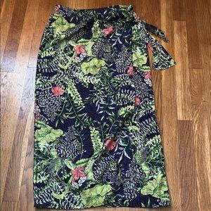 Valerie Stevens size 8 silk wrap skirt